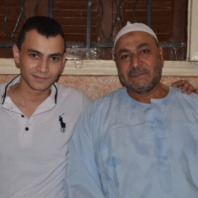 Hatem Zaghloul with father