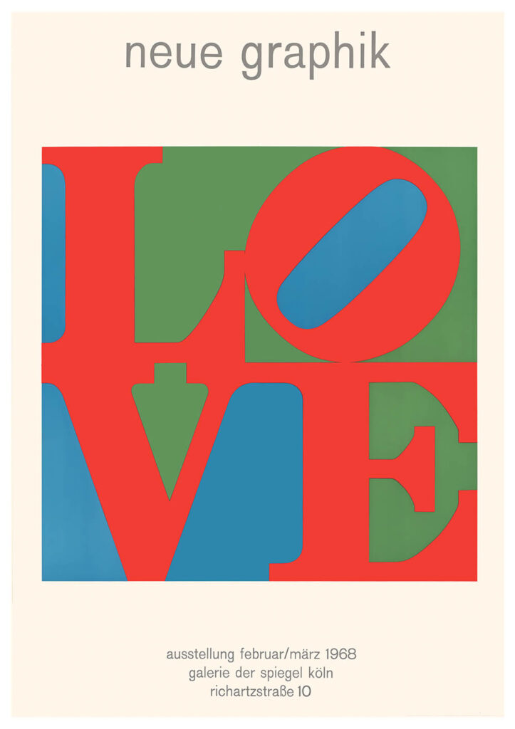 "Planar editions print - ""LOVE (neue graphik) 1968"" by Robert Indiana (£50)"