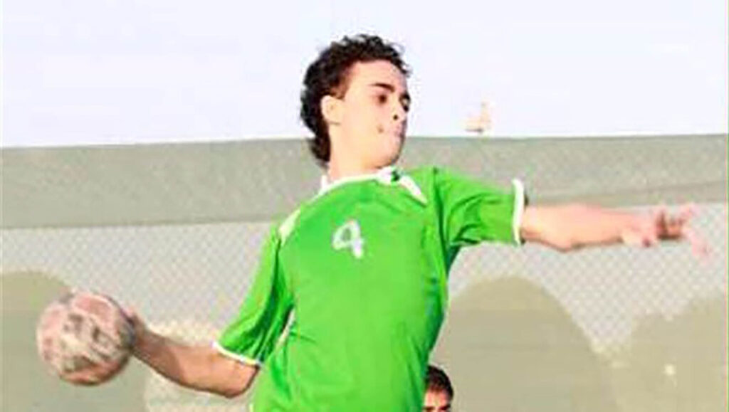 Large background image of Mujtaba al Sweikat playing sports