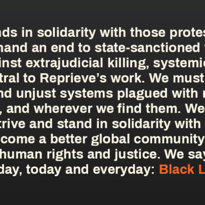 Reprieve's response to ongoing US protests