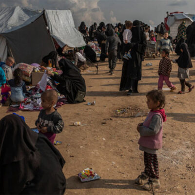 Meta image of child in Syrian detention camp