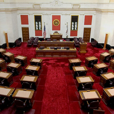 Twitter image of Virginia Senate Chamber from Wikimedia Commons